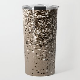 Sparkling Sepia Lady Glitter #1 #shiny #decor #art #society6 Travel Mug
