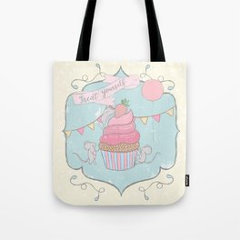 Treat Yourself Cupcake Party Tote Bag