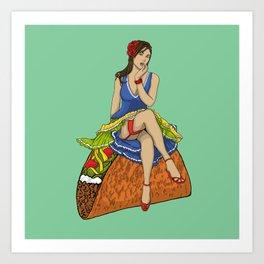 Pinup Taco Art Print