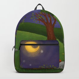 Fox And Bunny Dreaming The Night Away Backpack
