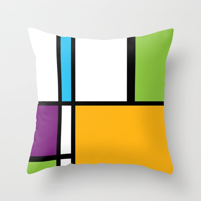 MONDRIAN ESSENCE Throw Pillow
