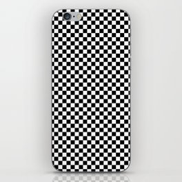 Black White Checks Minimalist iPhone Skin