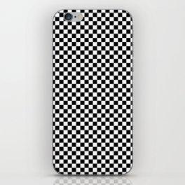 Black White Checks Minimalist iPhone Skin