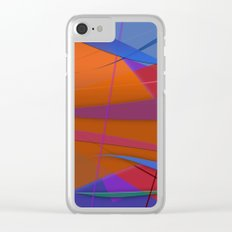 Abstract #430 Sailing Clear iPhone Case