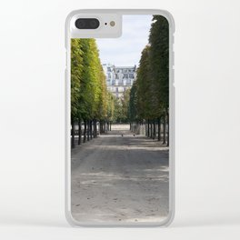 Tuileries Garden in the fall Clear iPhone Case