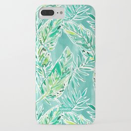 LEAFY ABUNDANCE Green Banana Leaf Print iPhone Case