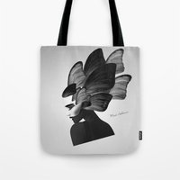 no face Tote Bags featuring  face  by mark ashkenazi