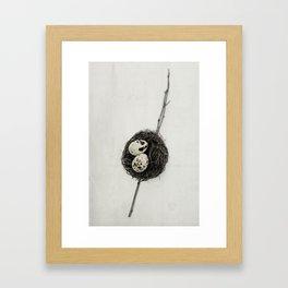 nest + speckled eggs   fig. o1 Framed Art Print