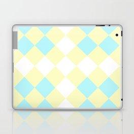Checkers Yellow/Blue Laptop & iPad Skin