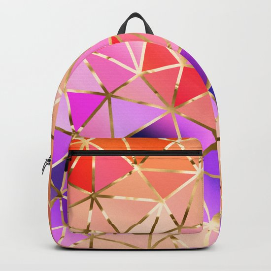 Rainbow Geometric pattern #4 Backpack