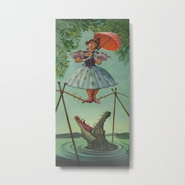 haunted mansion umbrela Metal Print