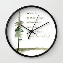 A Viking Proverb - Fir Tree Wall Clock