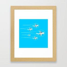 popfuture: jetpack Framed Art Print