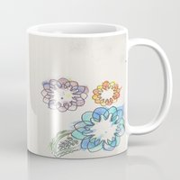 water colour Mugs featuring Water-colour Flowers by Natasha Ramon