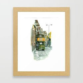 Harrods Tour Bus Framed Art Print
