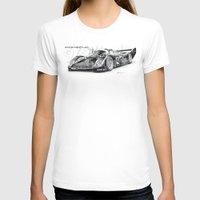 porsche T-shirts featuring Porsche 962 by sesven