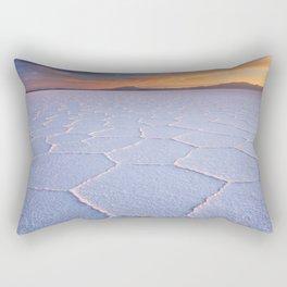II - Salt flat Salar de Uyuni in Bolivia at sunrise Rectangular Pillow