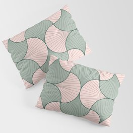 Sage and Blush Vintage Geometric Scales Pillow Sham