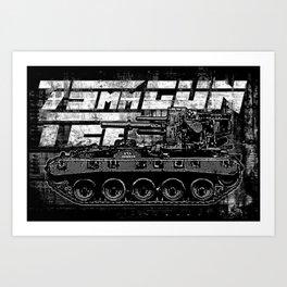 75mm gun T22 Art Print
