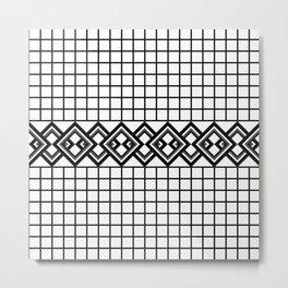 Links on a grid Metal Print