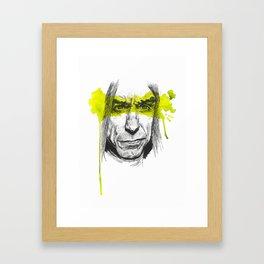 Iggy portrait Framed Art Print