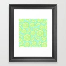 Simply Lime Mint Framed Art Print