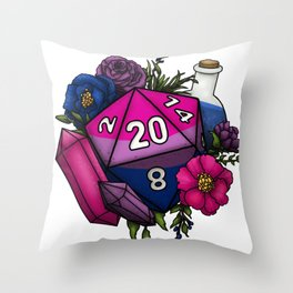 Pride Bisexual D20 Tabletop RPG Gaming Dice Throw Pillow