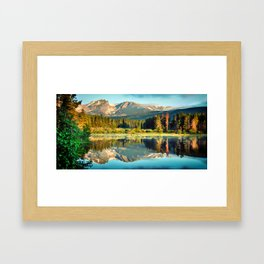 Rocky Mountain Peak Landscape Panorama - Estes Park Colorado Framed Art Print