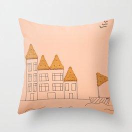 cracker home Throw Pillow