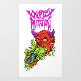Kryptik mutation vomit coffin Art Print