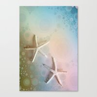 starfish Canvas Prints featuring Starfish by ALLY COXON