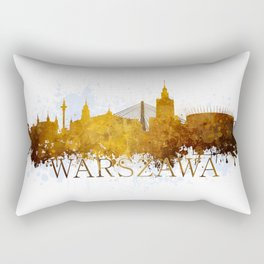 Warsaw in autumn tones Rectangular Pillow