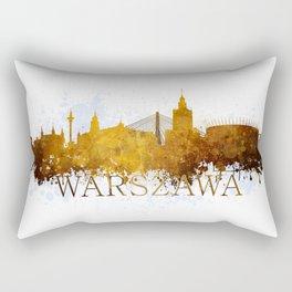 Warsaw in autumn tones Rectangular Pillow