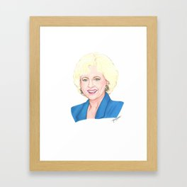 Golden Girls - Rose (Betty) Framed Art Print