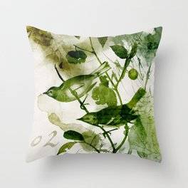 Birds (square 2) Throw Pillow