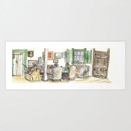Grandmother's living room Art Print