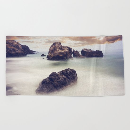 Sunset Seascape Beach Towel