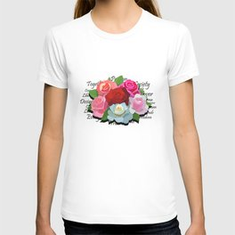 Liberty Flowers by Devin Buzzarello T-shirt