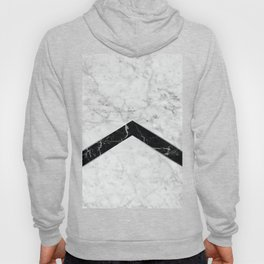 Arrows - White Marble & Black Granite #619 Hoody