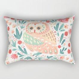Little Pink Owl Rectangular Pillow