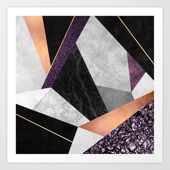 Purple Geo Art Print