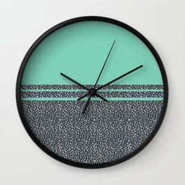 Lucite Green Dots Wall Clock