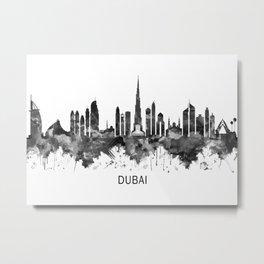 Dubai UAE Skyline BW Metal Print