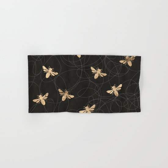 Busy Bees (Black) Hand & Bath Towel
