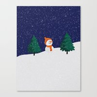 snowman Canvas Prints featuring Snowman ... by Mr & Mrs Quirynen