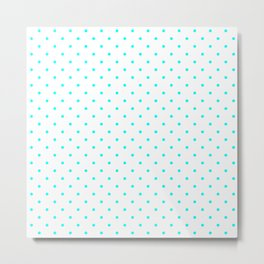 Small Aqua Blue Polka dots Background Metal Print