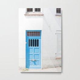 Belgian Blue Door Metal Print
