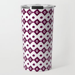 Abstract geometrical burgundy pink watercolor tribal pattern Travel Mug