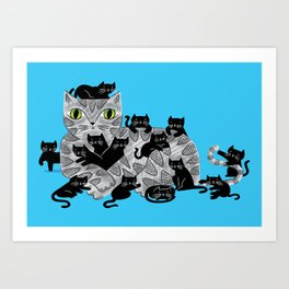 Kitten Litter Art Print