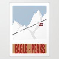 Eagle Peaks - Ski Poster Art Print
